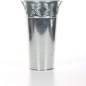 NWOT Set of 3 Galvanized Vases 12 Inch High
